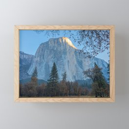 El Capitan First Light Framed Mini Art Print