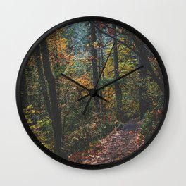 Leaf a Trail Wall Clock