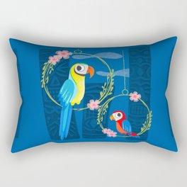 Squeaky Beakies With Freaky Tikis Rectangular Pillow