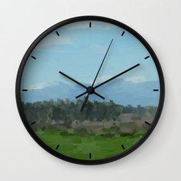 Abstract hills Wall Clock
