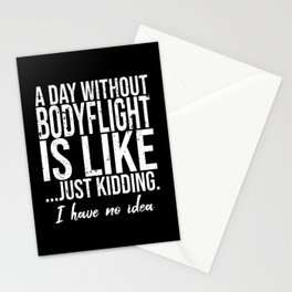 Bodyflight funny sports gift Stationery Cards