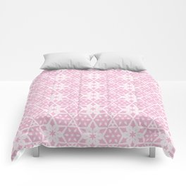 Stars and Hexagons Pattern - Pearly Pink Comforters