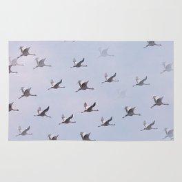Cranes in Flight II #decor #society6 #buyart Rug