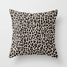 Tan Leopard Throw Pillow