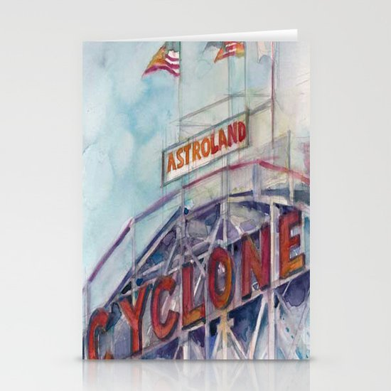 Cyclone Watercolor Stationery Cards