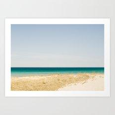 Seashore Blue Line Art Print