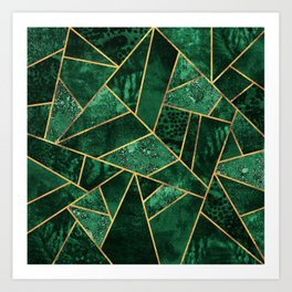 Deep Emerald Art Print