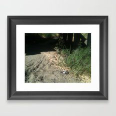 Out of place? Framed Art Print