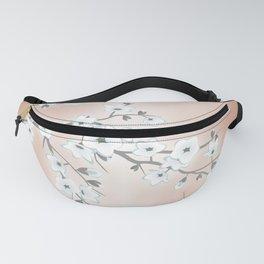 Rose Gold White Cherry Blossom Fanny Pack