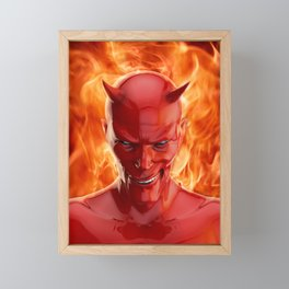 The devil Framed Mini Art Print