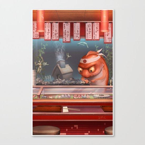 Sushi Fish Canvas Print