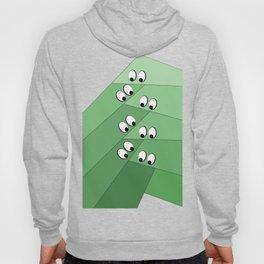 Green eating monsters design Hoody