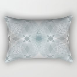 Colliding Circles in Teal and Grey Rectangular Pillow