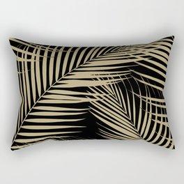 Palm Leaves - Gold Cali Vibes #2 #tropical #decor #art #society6 Rectangular Pillow