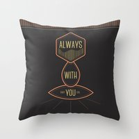 Always with you baby girl Throw Pillow