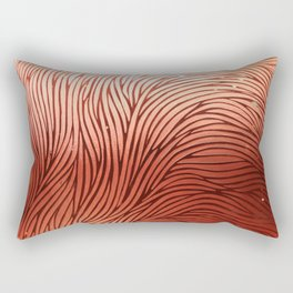 Red composition of multiple directional lines. Rectangular Pillow