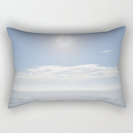 summer, could and sea in the Balearic Island Rectangular Pillow
