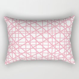 Texture lines pink and white Rectangular Pillow