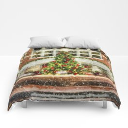 The Town Christmas Tree Comforters