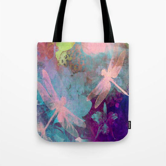 Pink Dragonflies Tote Bag