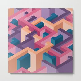 3d illusion labyrint Metal Print