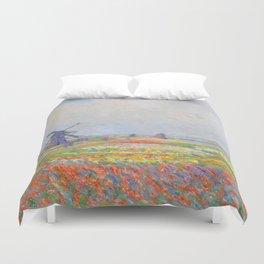 "Claude Monet ""Tulip Fields near The Hague"" Duvet Cover"
