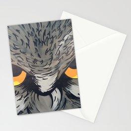 Eagle owl art owl bird drawing Stationery Cards