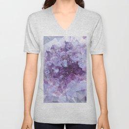 Crystal Gemstone Unisex V-Neck