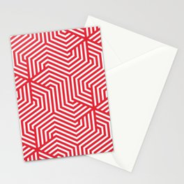 Rose madder - red - Minimal Vector Seamless Pattern Stationery Cards