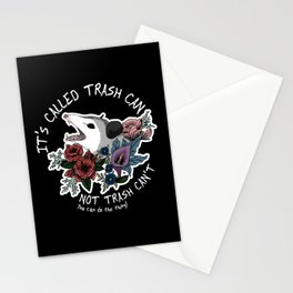 Possum with flowers - It's called trash can not trash can't Stationery Cards
