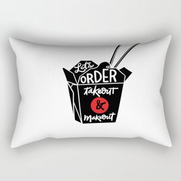 takeout & makeout Rectangular Pillow