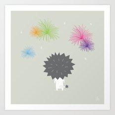 The Happy Fireworks Art Print