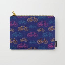 Cute Bright Vintage Bike Print Carry-All Pouch
