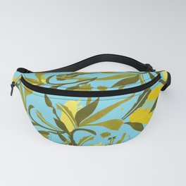 Melaleca blue & yellow textured Fanny Pack