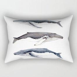 Humpback whales Rectangular Pillow