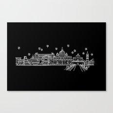 Roma (Rome), Italy City Skyline Canvas Print
