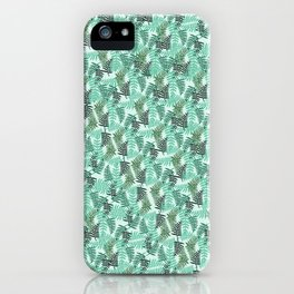 fern pattern small green background iPhone Case