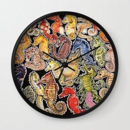 Sea horses Wall Clock