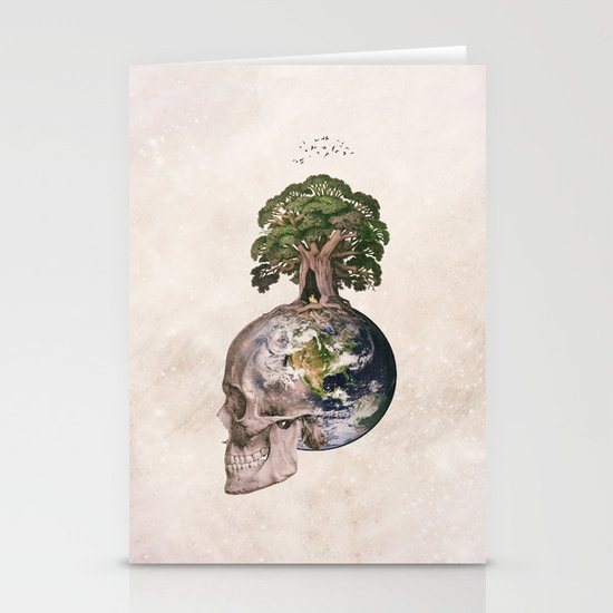 Life (Wandering Through Space) Stationery Cards