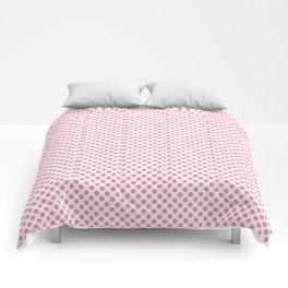 Flamingo Pink Polka Dots Comforters