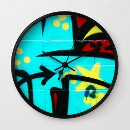 Local Graffiti Wall Clock