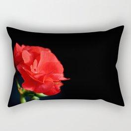 Red on black Rectangular Pillow