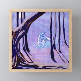 Forest Unicorn Framed Mini Art Print