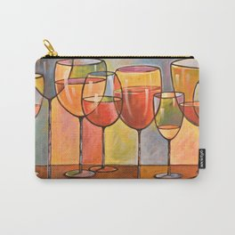 Whites and Reds ... abstract wine glass art, kitchen bar prints Carry-All Pouch