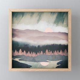 Forest Lake Evening Framed Mini Art Print