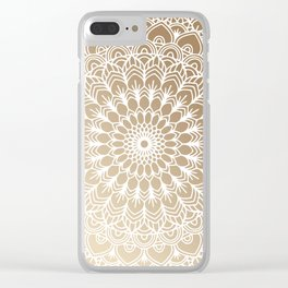 Gold Mandala 19 Clear iPhone Case