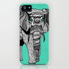 Tribal Elephant Black and White Version Slim Case iPhone (5, 5s)