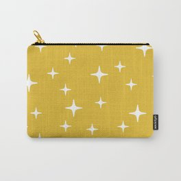 Mid Century Modern Star Pattern 443 Mustard Yellow Carry-All Pouch