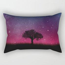 Tree Space Galaxy Cosmos Rectangular Pillow