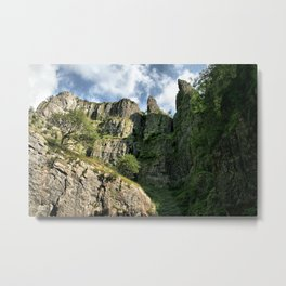 Cheddar Cliffs Metal Print